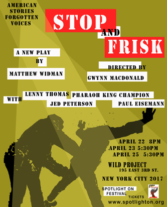 Stop and Frisk - Promo Art - American Voices - Spotlight On 2017